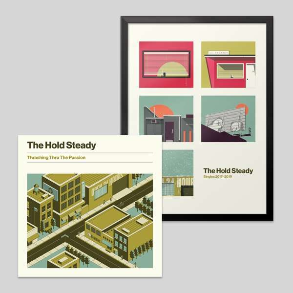 Album + Limited Lithograph Of Singles Covers Bundle - The Hold Steady