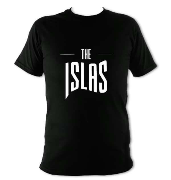 The Islas - Black T-Shirt W/Logo - THE ISLAS
