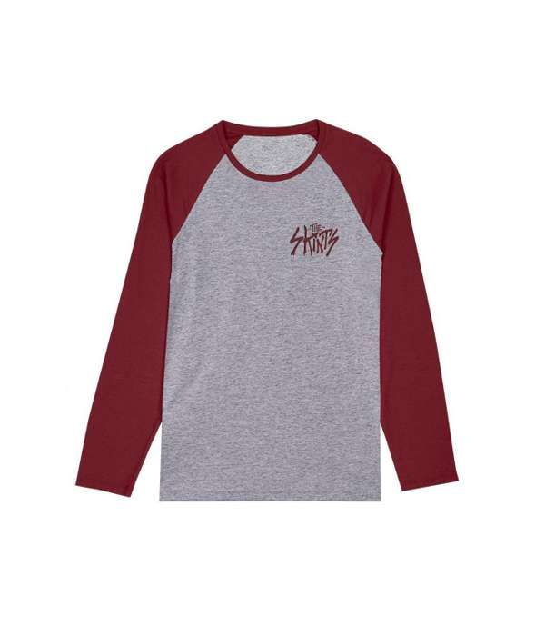 Graff Logo Raglan Grey/Burgundy - The Skints