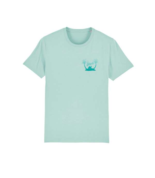 KIDS Tropical Tee - Caribbean Blue - The Skints