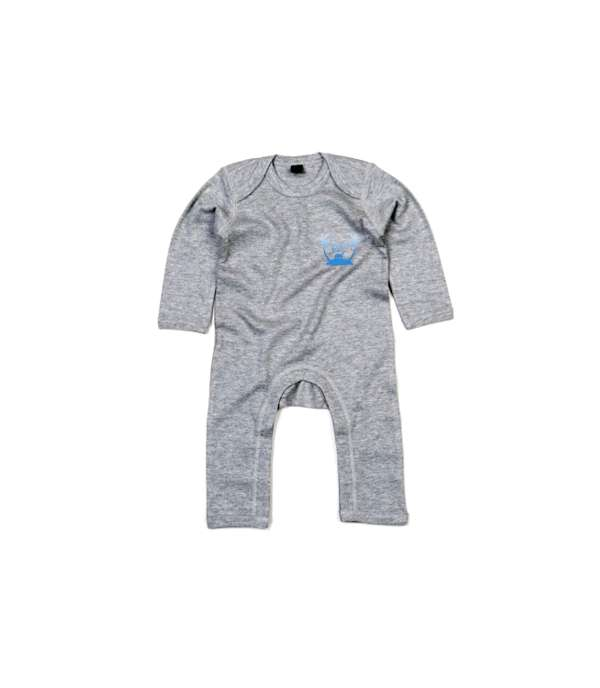 Tropical BABY Onesie Grey - The Skints