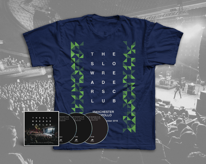 Live at o2 Apollo Manchester 2xCD + DVD + T-Shirt Bundle [PREORDER] - The Slow Readers Club
