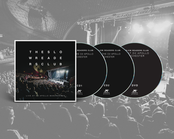 Live at o2 Apollo Manchester 2xCD + DVD - The Slow Readers Club