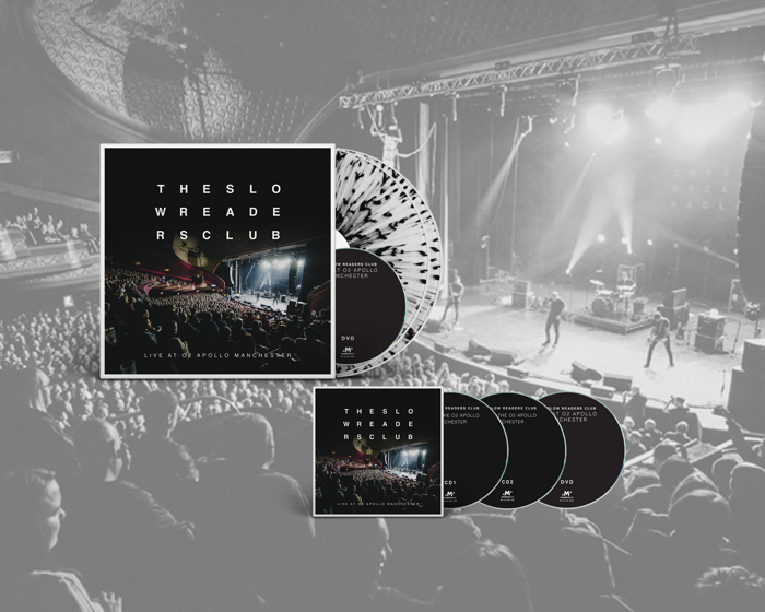 Live at o2 Apollo Manchester 2xLP + 2xCD + DVD Bundle - The Slow Readers Club