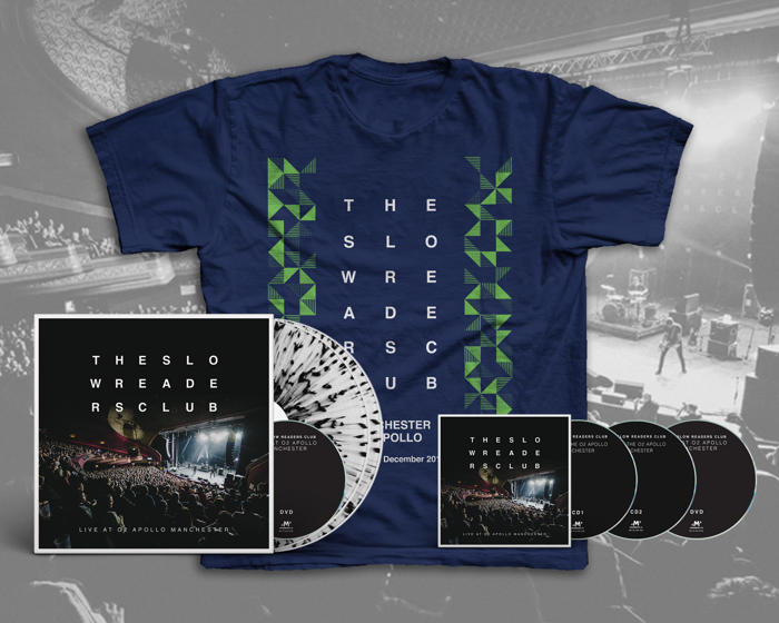 Live at o2 Apollo Manchester 2xLP+ 2xCD + DVD + T-Shirt Bundle [PREORDER] - The Slow Readers Club