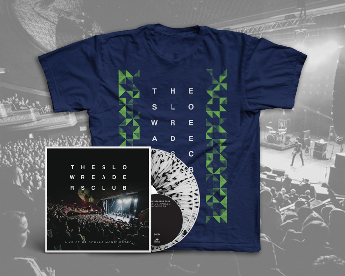 Live at o2 Apollo Manchester 2xLP + DVD + T-Shirt Bundle [PREORDER] - The Slow Readers Club