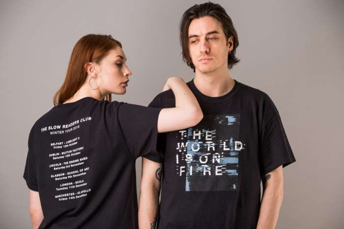 On The TV Tour T-Shirt - Black - The Slow Readers Club