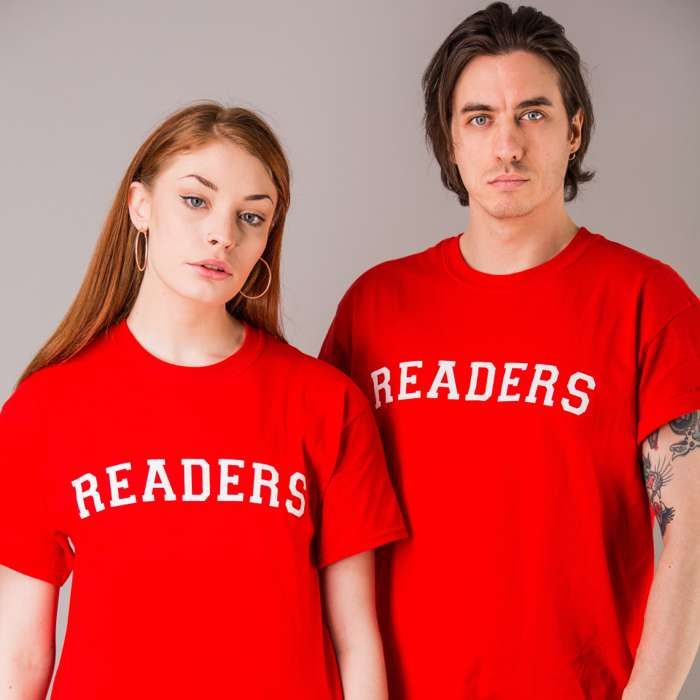 READERS T-Shirt - Red - The Slow Readers Club