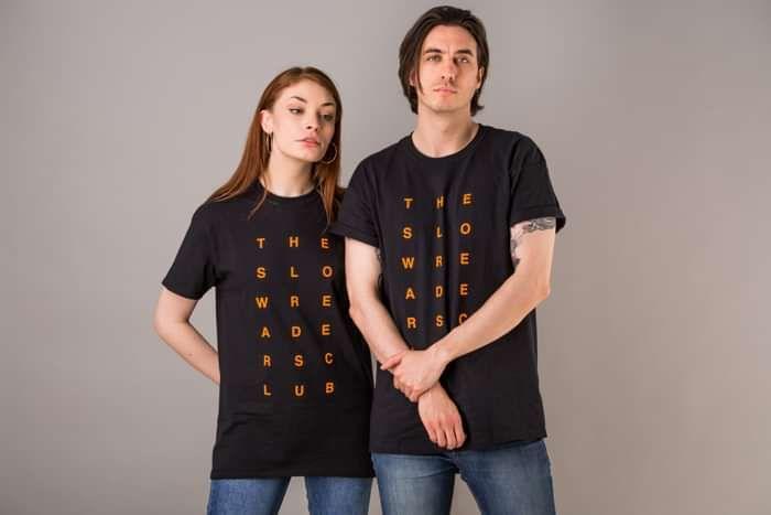 Vertical Logo T-Shirt - Black - The Slow Readers Club