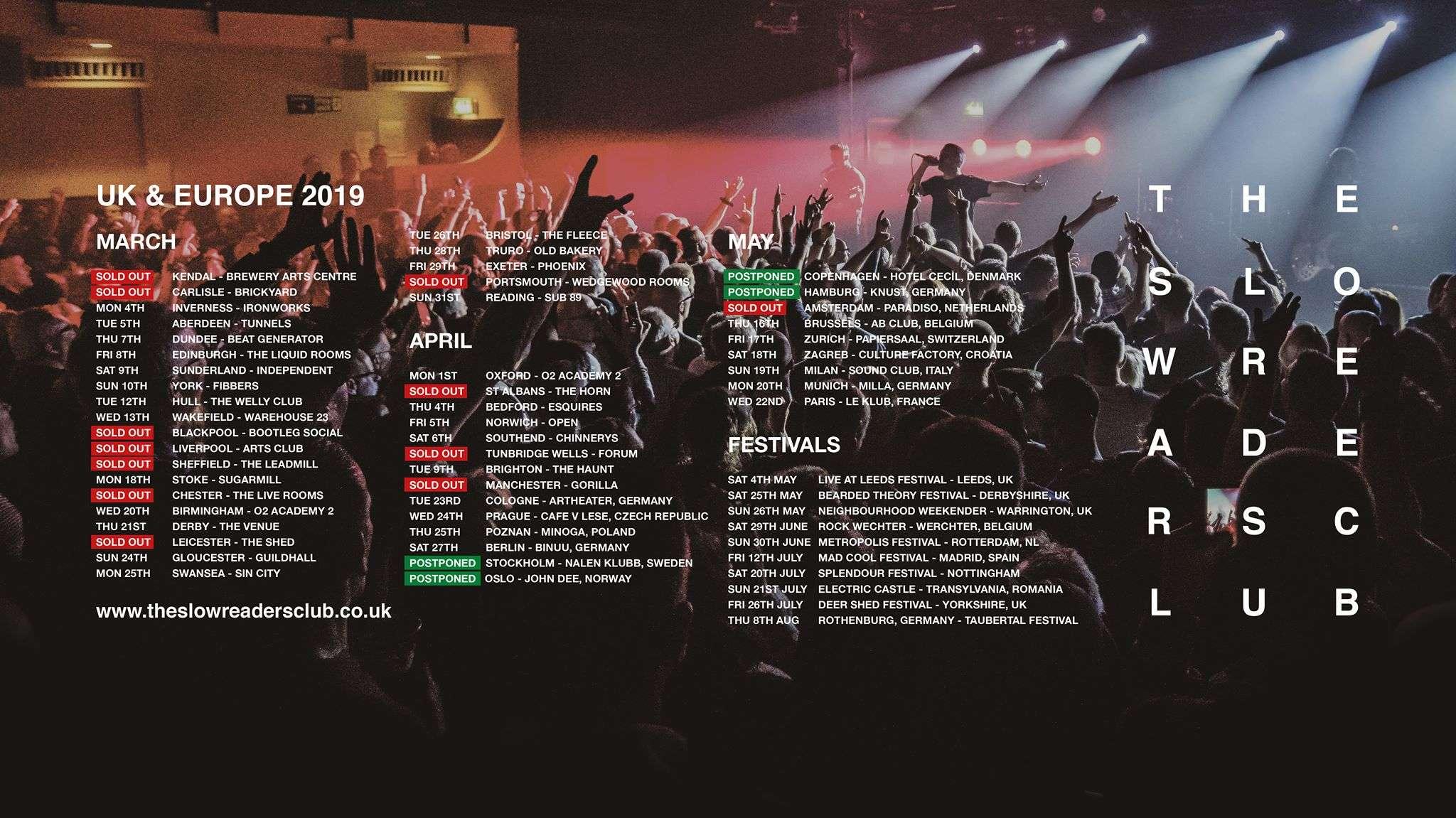 Stockholm, Oslo, Copenhagen + Hamburg shows POSTPONED  - The