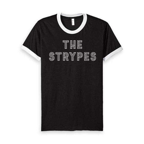 Spitting Image Band Logo Black Ringer T-Shirt - The Strypes