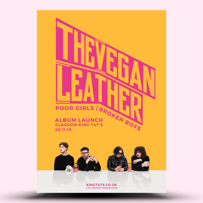 The Vegan Leather Album Launch A3 Poster - The Vegan Leather