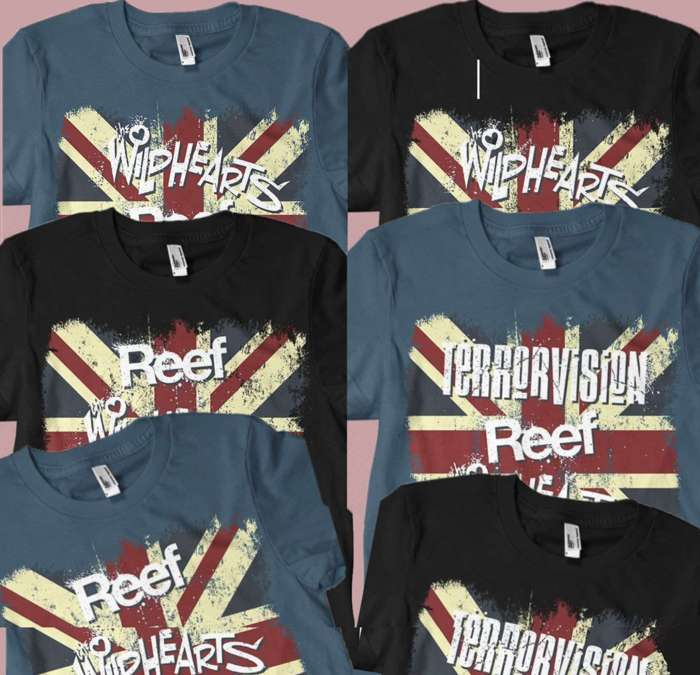 'Britrock Must Be Destroyed' Tour Shirt Bundle - The Wildhearts