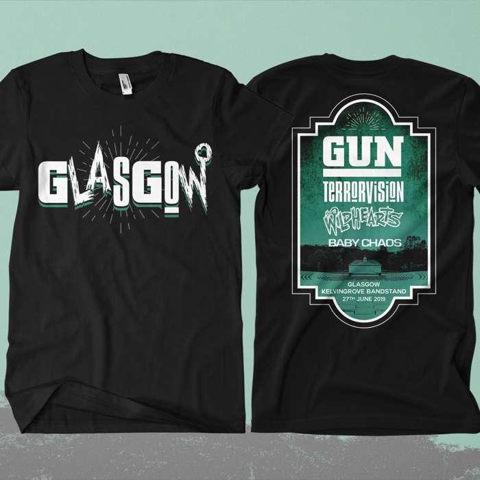 Glasgow Event Shirt Feat. Gun / Terrorvision / The Wildhearts / Baby Chaos - The Wildhearts