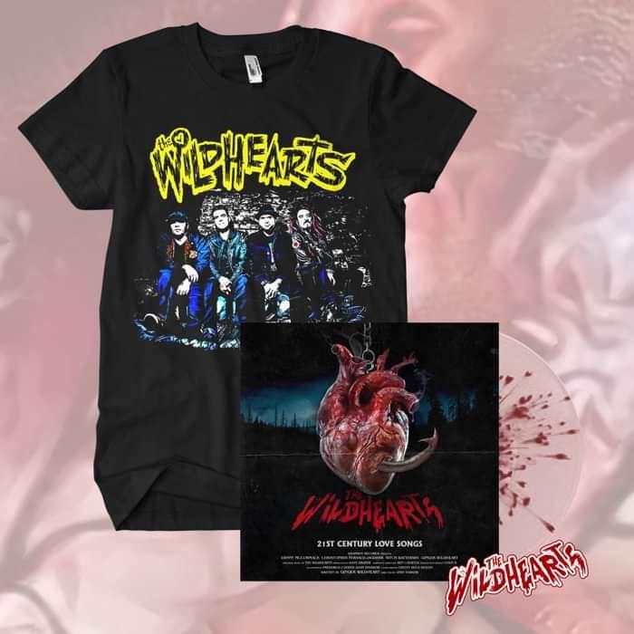 The Wildhearts - '21st Century Love Songs' Exclusive Splatter Vinyl + Sticker + T-Shirt Bundle - The Wildhearts
