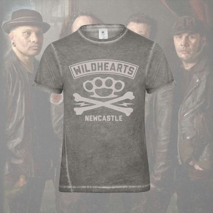 The Wildhearts - 'Crossbones' Light Grey Print T-Shirt - The Wildhearts