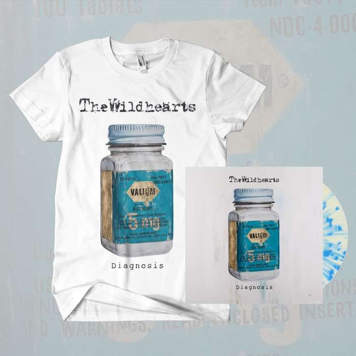 The Wildhearts - 'Diagnosis' 10'' Coloured Vinyl & T-Shirt Bundle - The Wildhearts