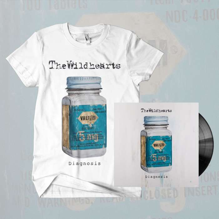 The Wildhearts - 'Diagnosis' 10'' Vinyl & T-Shirt Bundle - The Wildhearts