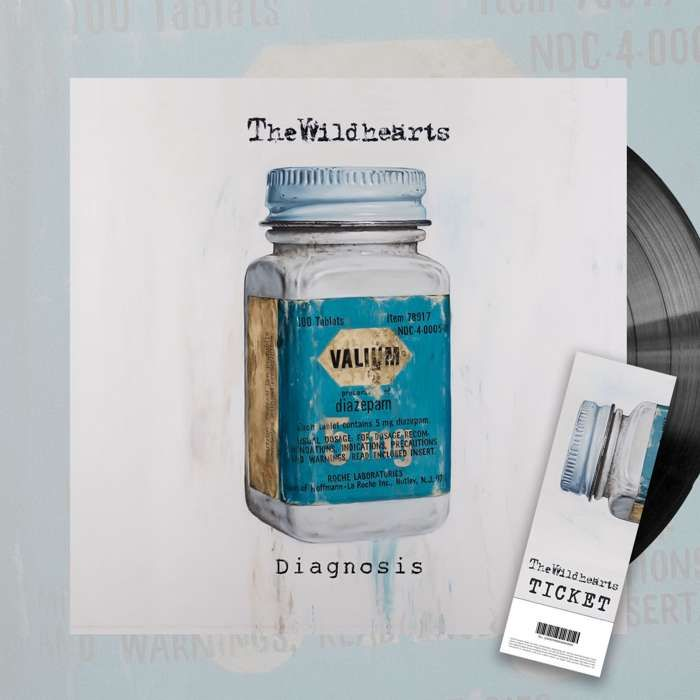 The Wildhearts - 'Diagnosis' 10'' Vinyl + Ticket Bundle - The Wildhearts