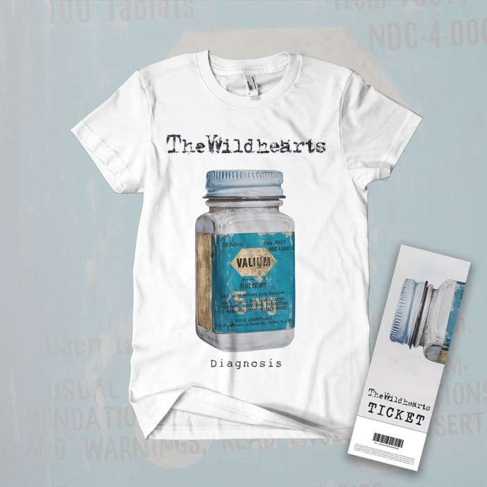 The Wildhearts - 'Diagnosis' T-Shirt + Ticket Bundle - The Wildhearts