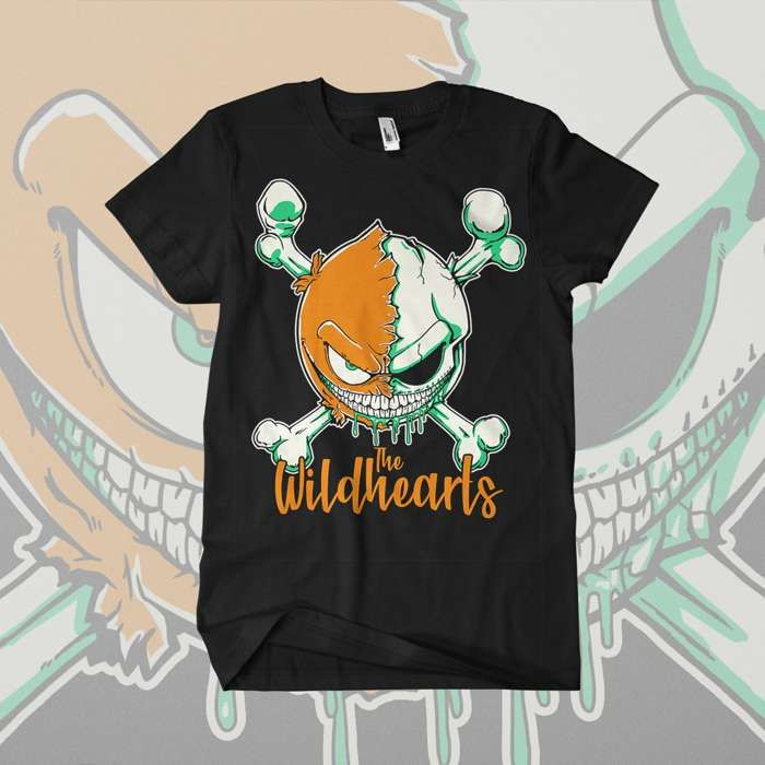 The Wildhearts - 'Green Skull Smiley' T-Shirt - The Wildhearts