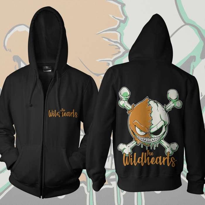 The Wildhearts - 'Green Skull Smiley' Zip Hoody - The Wildhearts