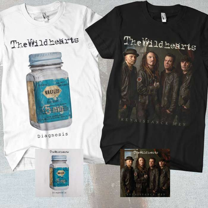 The Wildhearts - 'Renaissance Men' & 'Diagnosis' CDs & T-Shirts Bundle - The Wildhearts