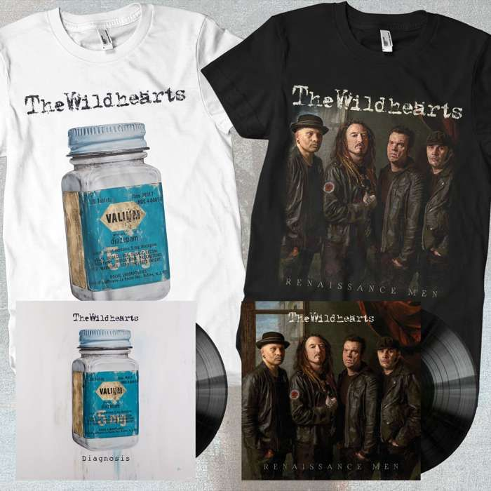 The Wildhearts - 'Renaissance Men' & 'Diagnosis' Vinyl & T-Shirts Bundle - The Wildhearts