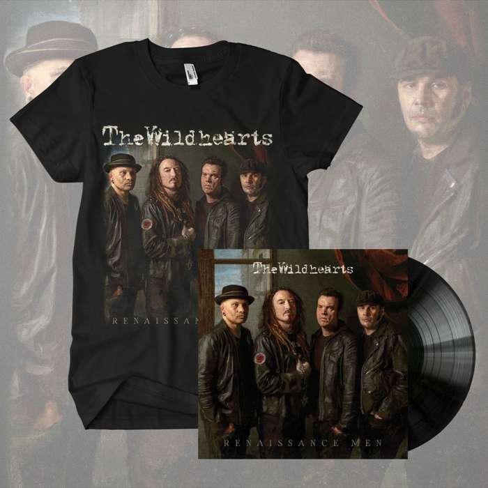 The Wildhearts - 'Renaissance Men' Black Vinyl & T-Shirt Bundle - The Wildhearts