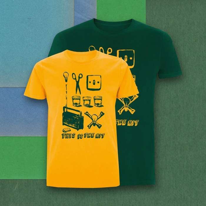 Gold and Green Off Off On T-Shirt - This Is The Kit US