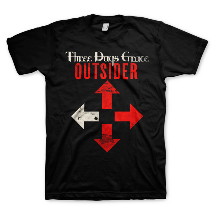 Outsider Arrows - Black Tee - Three Days Grace