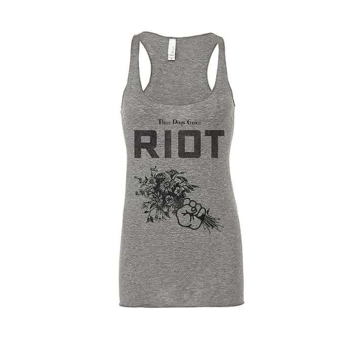 Riot Flowers – Girls Vest - Three Days Grace
