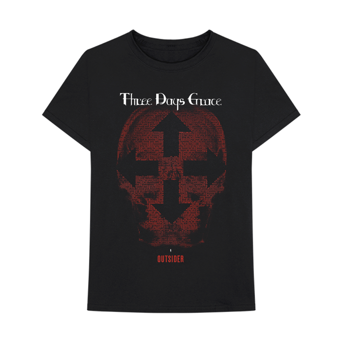 Skull Tour - Black Tee - Three Days Grace