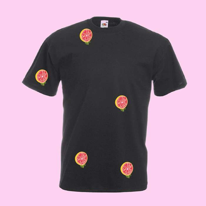 100% UNIQUE CUSTOM-MADE THUMPERS GRAPEFRUIT PATCHES T-SHIRT - THUMPERS