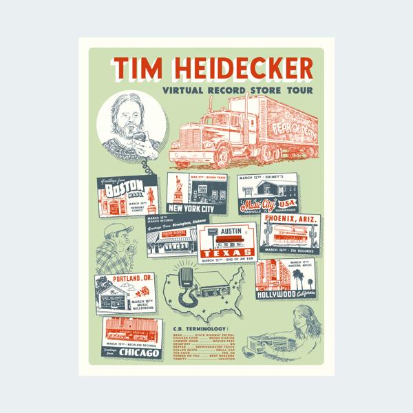 Tim Heidecker Virtual Record Store Tour — NUMBERED & SIGNED POSTER - Tim Heidecker