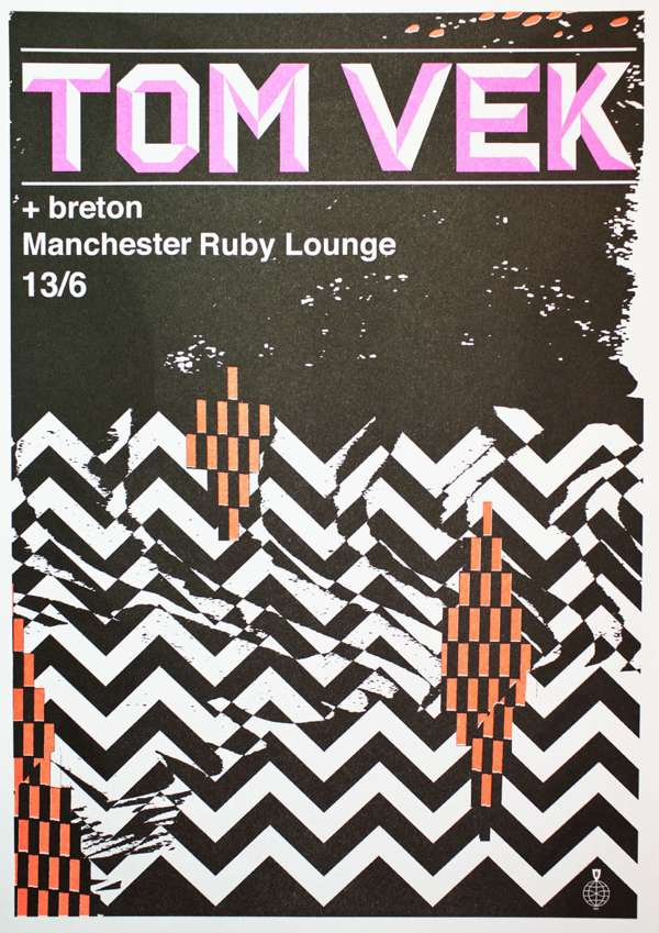 Live Poster - Danny Sangra - Manchester (A3) - Tom Vek