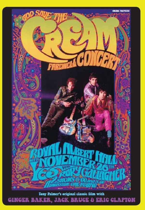 Cream - Farewell Concert DVD (TPDVD187) - Tony Palmer