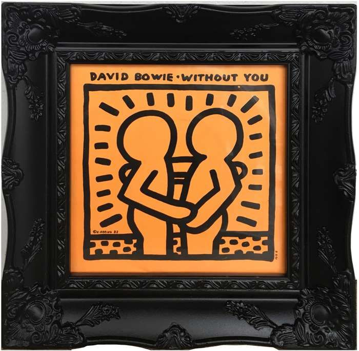 """David Bowie """"Without You"""" KEITH HARING (Framed) - DJ Trendy wendy"""