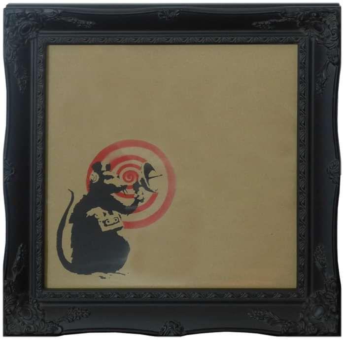 """Radar Rat"" BANKSY (Framed) - DJ Trendy wendy"