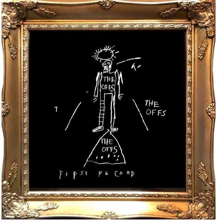 "The Offs ""First Record"" JEAN-MICHEAL BASQUIAT (FRAMED) - DJ Trendy wendy"