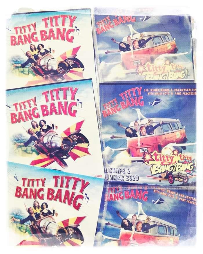 TittyTitty Bang Bang MIXTAPEs 1 & 2 on vinyl-look CD! - DJ Trendy wendy