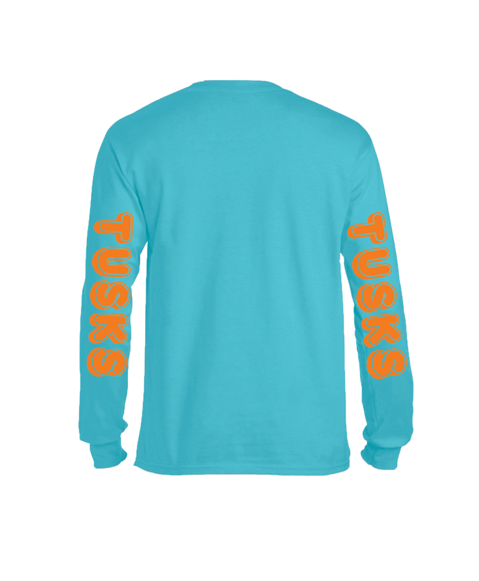 Blue & Orange Tusks Sleeve Shirt - Tusks