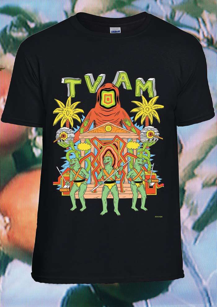 TVAM Lizard Men Ltd. Edition T-Shirt (Black) - TVAM