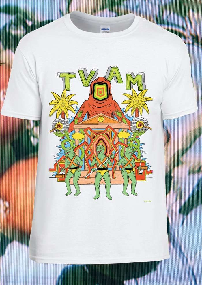 TVAM Lizard Men Ltd. Edition T-Shirt (White) - TVAM