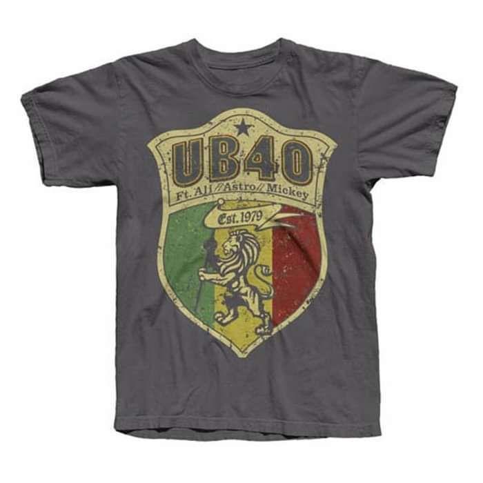 Charcoal 'Shield Crest' Tee - UB40