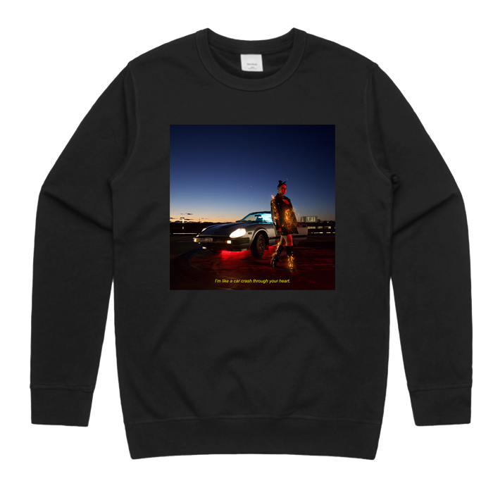 Car Crash Through Your Heart Sweatshirt [Black] - Muki