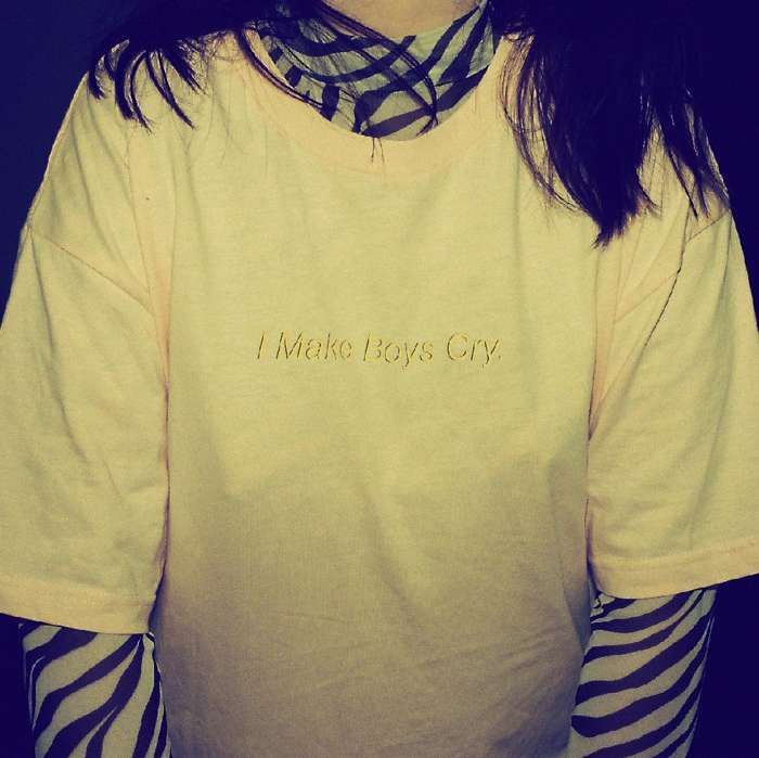 I Make Boys Cry T-Shirt [Pink] - Muki