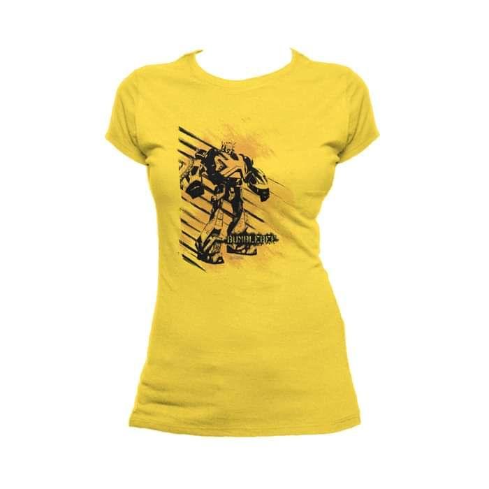 eb9576b2e2730 Transformers Fall of Cybertron Bee Dot Official Women's T-shirt (Yellow)