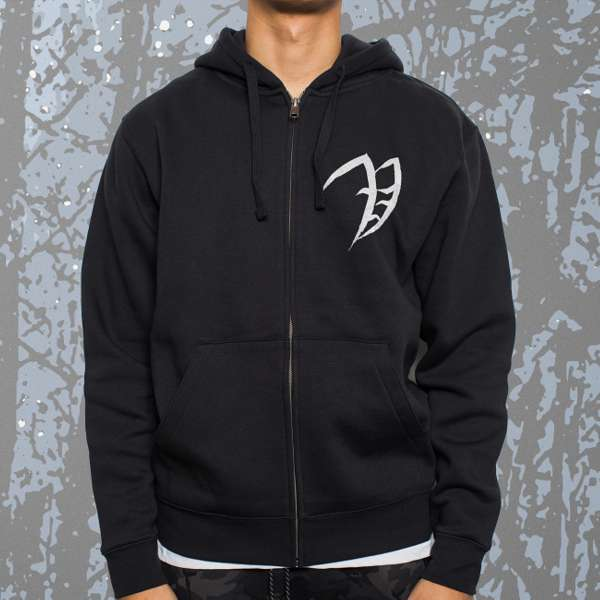 Vreid - 'Lifehunger' Black Zip Hoody - Vreid