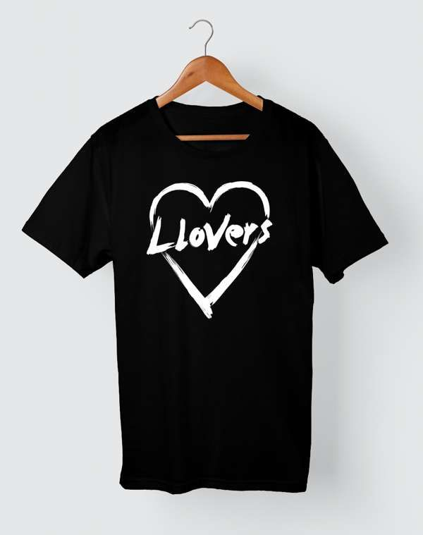 Llovers Heart Logo T-Shirt [Black] - Llovers